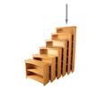 """Six Shelf Solid Wood Bookcase - 84""""H, 35007"""