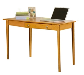 "Solid Wood Desk with Left Wedge - 56""W, 16047"