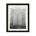 Foggy Day on Brooklyn Bridge by Henri Silberman- Framed Photography Print, 87615