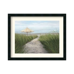 Umbrella on the Beach by Julie Peterson - Framed Art Print, 87620
