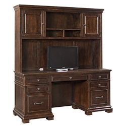 "Double Pedestal Credenza with Hutch - 66""W x 24""D, 14316"
