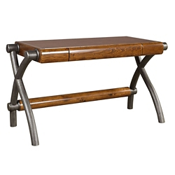 """Writing Desk with Faux Leather Top - 55""""W, 10414"""
