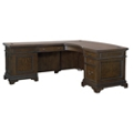 "Curved Top Executive L-Desk - 66""W, 10512"