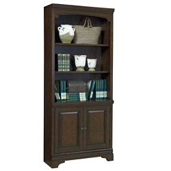 "Five Shelf Bookcase With Doors - 77.5""H, 32220"