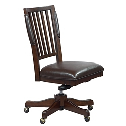 Armless Office Chair in Bonded Leather, 55082