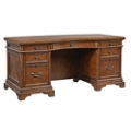 "Curved Starburst Veneer Executive Desk - 66""W, 10421"