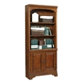 "Five Shelf Bookcase with Doors - 77.5""H, 32221"