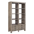 "Solid Wood Eight Cubby Room Divider with Doors - 40""W, 21538"