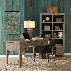 Solid Wood Writing Desk and Room Divider Set, 10497