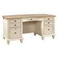 "Two Tone Executive Desk - 66""W, 10423"