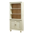 "Two Tone Bookcase with Doors - 72""H, 32219"