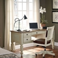 Bowfront Half Pedestal Desk and Chair Set, 10468