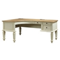 "Two Tone Curved L-Desk - 72""W, 10417"