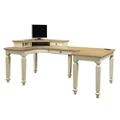 "Curved L-Desk with Hutch - 72""W, 10466"
