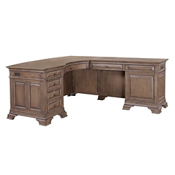 "Bowfront L-Desk with Right Return - 66""W, 14417"