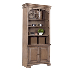 "Lighted Bookcase with Doors - 84""H, 32214"