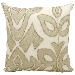 "kathy ireland by Nourison Gold Beaded Square Pillow - 20"" x 20"", 82248"