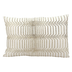 """kathy ireland by Nourison Beaded Rectangular Accent Pillow - 24""""W x 16""""H, 82163"""