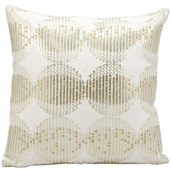 "kathy ireland by Nourison Metallic Square Pillow - 16"" x 16"", 82250"