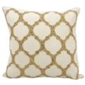 "kathy ireland by Nourison Beaded Lattice Square Pillow - 20"" x 20"", 82252"