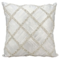 "kathy ireland by Nourison Beaded Diamond Square Pillow - 20"" x 20"", 82253"