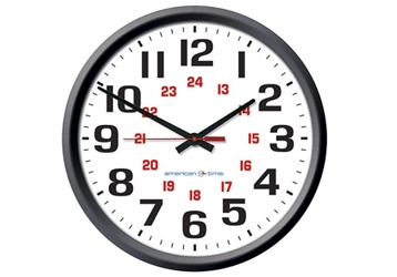 "Automatic Adjustment Wall Clock with Battery Booster - 12"", 92110"