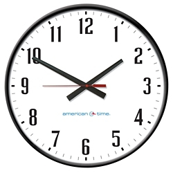 """Wall Clock with Battery Booster - 24"""", 92209"""