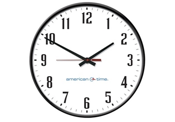 """Silent Analog Clock with Battery Booster - 12"""", 92112"""