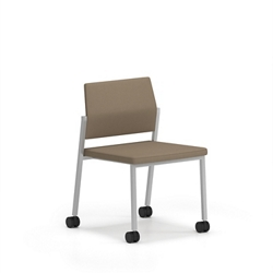 Upholstered Armless Guest Chair with Casters, 76620