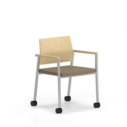 Laminate Back Guest Chair with Casters, 76637