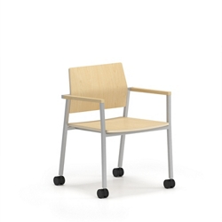Laminate Guest Chair with Casters, 76641