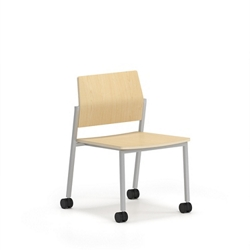 Armless Laminate Guest Chair with Casters, 76643