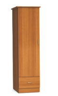 "One Door and One Drawer Wardrobe Cabinet - 72""H , 26543"