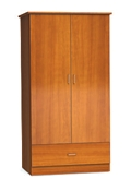 "Two Door and One Drawer Wardrobe Cabinet - 72""H , 26545"