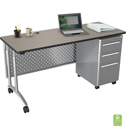 "Adjustable Computer Desk - 72""W x 24""D, 11359"