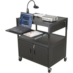 AV Cart with Locking Cabinet, 43141