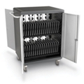 "Mobile Charging 32 Slot Tablet Storage Cart - 36.75""H, 43390"