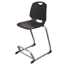 Plastic Stacking Stool with Built-in Foot Rest, 51491