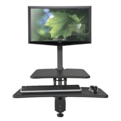 Single Monitor Sit Stand Station , 60001