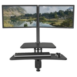 Dual Monitor Sit Stand Station , 60002