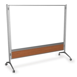 6' x 6' Glass Mobile Markerboard, 80343