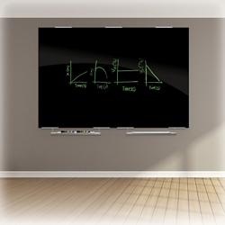 Glass Board with Marker Tray - 6ft x 4ft, 80719
