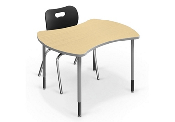 "Small Curved Desk - 32.7""D x 41.7""W, 46394"