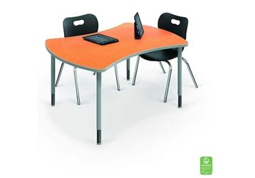 "Large Curved Desk - 35.7""D x 47.4""W, 46395"