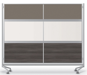 Mobile Acrylic, Laminate and Whiteboard Partition, 22486