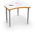 "Adjustable Height Whiteboard Desk - 29.9""W, 16211"