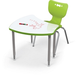 "Adjustable Height Whiteboard Desk - 35""W, 16213"