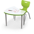 "Adjustable Height Whiteboard Desk - 34.9""W, 16213"