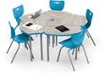 "Large Height Adjustable Desk - 34.9""W, 16212"