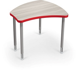 "Adjustable Height Desk with Colored Edge Banding - 35""W, 16212"